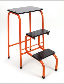 Blackheath stool in orange + black ferrules