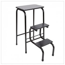 Blackheath stool in black + black ferrules