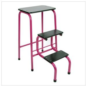 Blackheath stool in hot pink + black ferrules