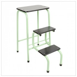 Blackheath stool in mint green + black ferrules