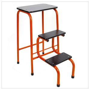 Blackheath stool in orange + black ferrules