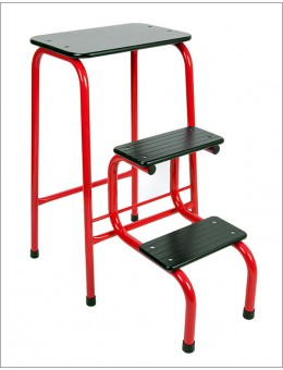 Blackheath stool in red + black ferrules