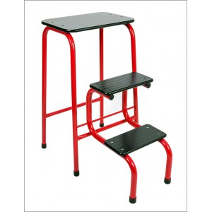 Blackheath stool in red + black ferrules