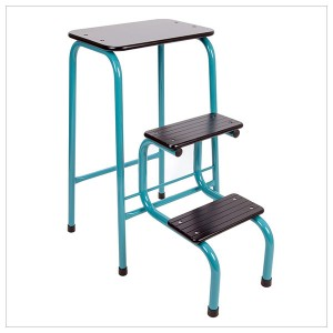 Blackheath stool in teal + black ferrules