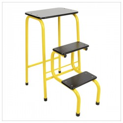 Blackheath stool in yellow + black ferrules