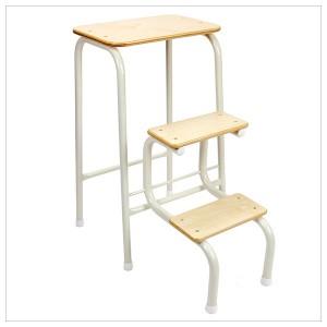 Birchwood stool in cream + white ferrules