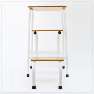 Hornsey stool in cream (+ black ferrules)