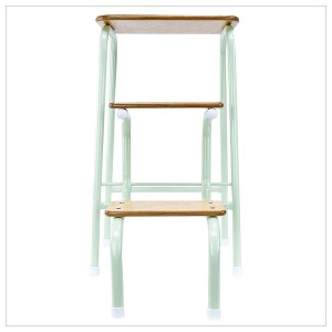 Hornsey stool in mint green + white ferrules