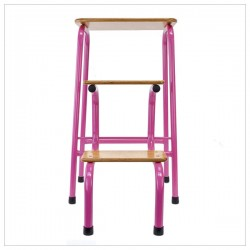 Hornsey stool in hot pink + black ferrules