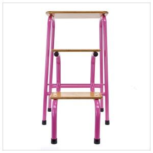 Hornsey stool in hot pink + black ferrules