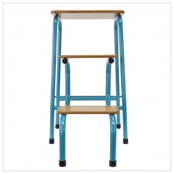Hornsey stool in teal + black ferrules