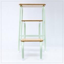 Hornsey stool in mint green (+ white ferrules)