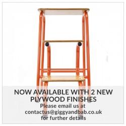 Hornsey stool in orange (+ black ferrules)