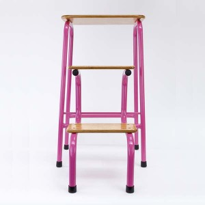 Hornsey stool in hot pink (+ black ferrules)