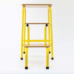 Hornsey stool in yellow (+ black ferrules)