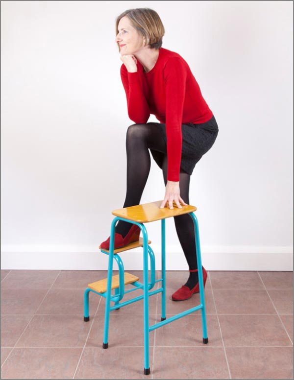 Hornsey stool in teal