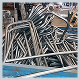 Bent 19mm tube sections for stool frame, ready for welding