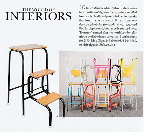 The Hornsey Stool in World of Interiors