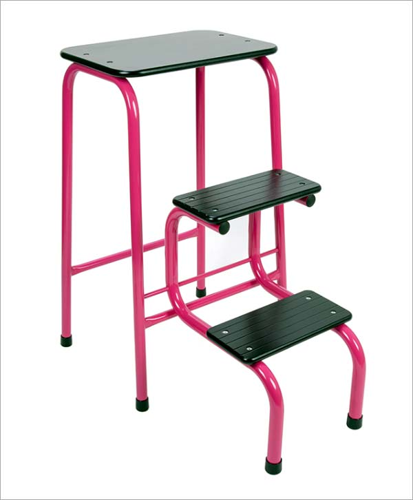 Giggy & Bab Blackheath stool in Hot Pink