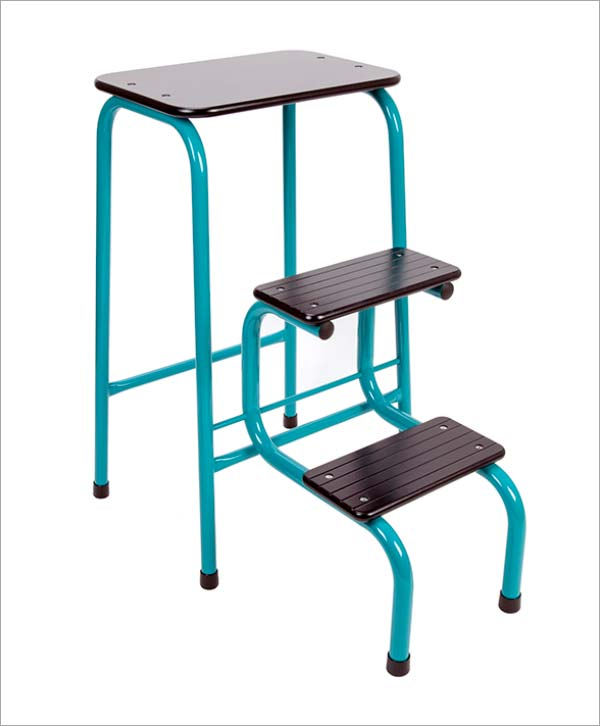 Giggy & Bab Blackheath stool in teal