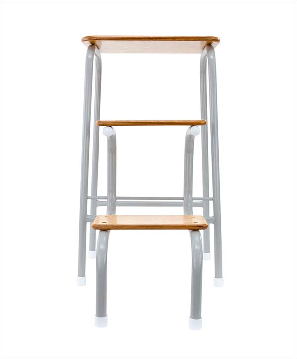 Giggy & Bab Hornsey stool in pale grey