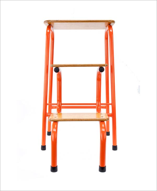 Giggy & Bab Hornsey stool in orange