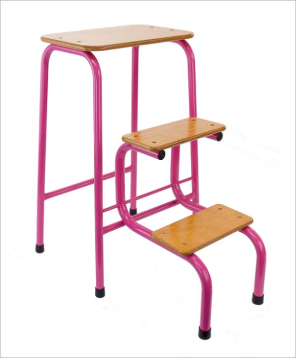 Giggy & Bab Hornsey stool in hot pink