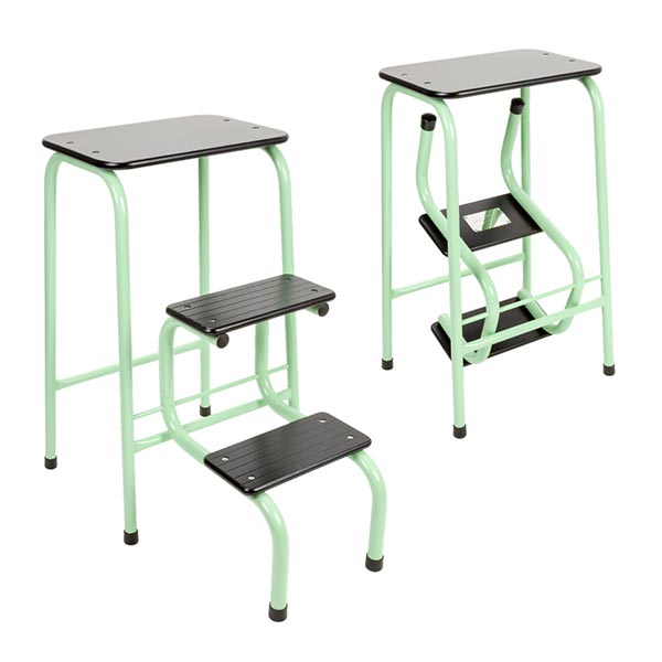 Blackheath stool in mint green