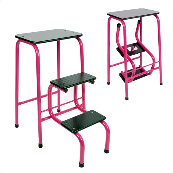 Blackheath stool in hot pink
