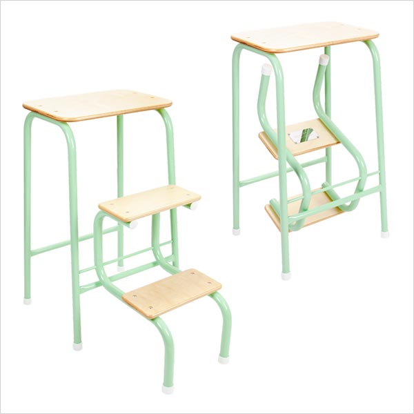 Birchwood stool in mint green