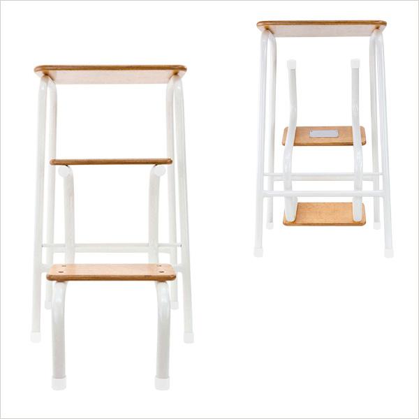 Hornsey stool in cream