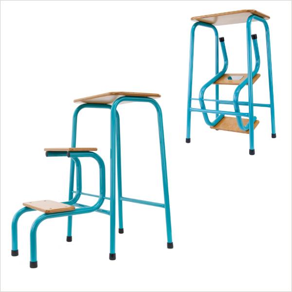 Hornsey stool in teal